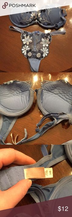 Victoria's Secret bra and panty set This set has been in my drawer for a few years. Never worn. There is a snag in the lace, see last picture. These come together as a set. Victoria's Secret Intimates & Sleepwear Bras