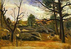 An image of Landscape by André Derain André Derain, Maurice Denis, Landscaping Images, Edouard Vuillard, Portraits, Landscape Paintings, Landscapes, Henri Matisse, French Artists