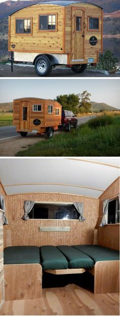 Experience the rustic lifestyle inside a charming trailer – its adaptable interior will win you over - Sadly, Casual Turtle has folded shop. Camping And Hiking, Camping Survival, Tent Camping, Camping Hacks, Camping Gear, Airstream Camping, Camping Supplies, Camping Checklist, Camping Outdoors