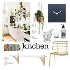 """""""My Kitchen"""" by ashley-rebecca ❤ liked on Polyvore featuring interior, interiors, interior design, home, home decor, interior decorating, Bloomingville, kitchen and kitchendesign"""