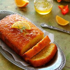 A delicious pound cake bursting with fresh orange flavors is the perfect way to bring a spot of sunshine to your Holiday table!