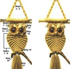 Macrame Owl Necklace Instructions And Video Tutorial   The WHOot