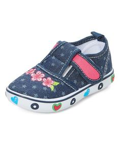 Another great find on #zulily! Jean Blue Stars & Hearts Sneaker #zulilyfinds