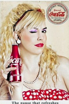 Coca-Cola pinup