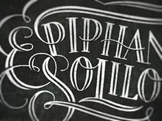 Simon Frouws: Epiphanies & Soliloquies – Hand-drawn script for a boutique clothing shoppe.