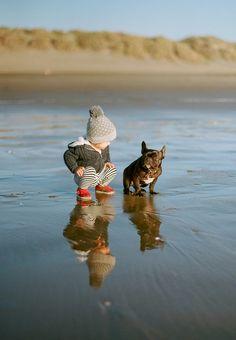 .Ved ikke om  dette billede giver mig mest lyst til at få et barn eller en hund....