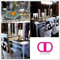 Glam Dining: Silver & White Vintage Hollywood Inspired Table Decor | The Decorating Diva, LLC