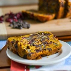 Pumpkin Bread: I make this without cranberries, but I'm sure it would still taste good with them. This ended up being super moist and fresh for a few days after. I really loved the chocolate and pumpkin together - best out of the oven, but good to warm up.