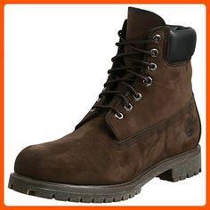 4a519f7c30f7d Timberland Men's 6 inch Premium Waterproof Boot, Dark Brown Nubuck, 8 M US -
