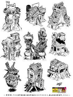 9 RPG building concepts by STUDIOBLINKTWICE.deviantart.com on @DeviantArt