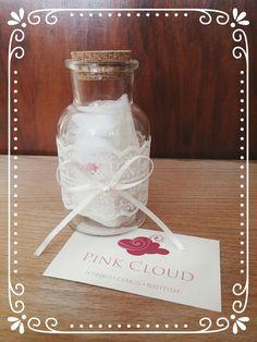 #Μπομπονιέρα#pink_cloud#βαζάκι#boho#romantic#lace#pearl