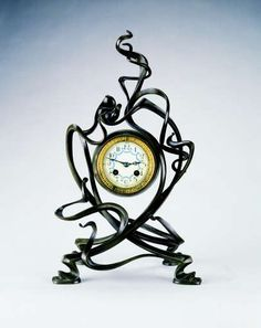 A Bronze Clock - Victor Horta, Circa 1895