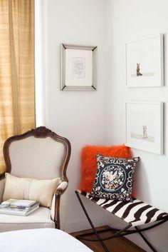 LOL I have that very same 70s faux furry  orange cushion!