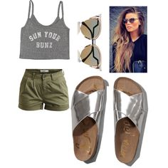 sun ur buns by popalah on Polyvore featuring polyvore fashion style Billabong Object Collectors Item Abercrombie & Fitch Fendi