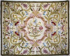 Castilian Silk Embroidery Wall Tapestry - Bordado de Castelo Branco