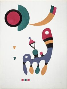 Kandinsky. Composition, 1944.Centre G. Pompidou, Paris.