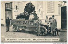 Bruxelles 1910 - L'Automobile publicitaire du Lion Noir, Cirage -Crême