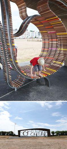 the longest bench by studio weave | #Kids #Beach #wood
