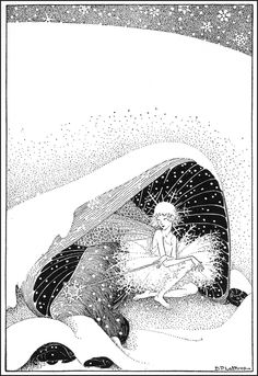 The Fairy in Winter - Down-Adown-Derry; A book of Fairy Poems by Walter De La Mare; published by Constable & Co, 1922
