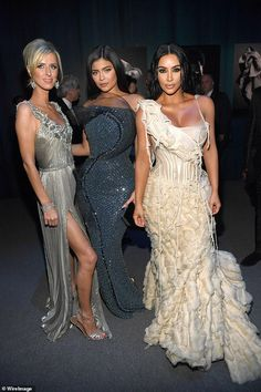 Old pals: Nicky caught up with family friend Kylie Jenner and Kim Kardashian inside...