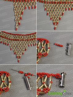 Step 10: Finish the main part of the beading necklace