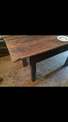 Shaker style reclaimed wood farm table