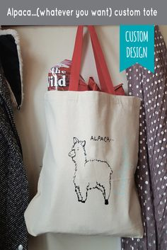 3a34ede29664 CUSTOM Alpaca Whatever You Want Tote Bag 100% by leeshyanna Personalized Tote  Bags