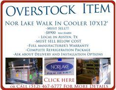 Overstock Walk-in cooler below cost 10 feet by 12 feet , Nor Lake brand new, full warranty