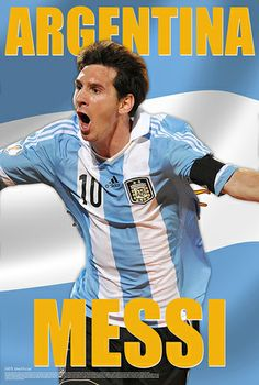 Lionel Messi Argentina Action World Cup 2014 Goal Celebration Soccer Poster - Starz