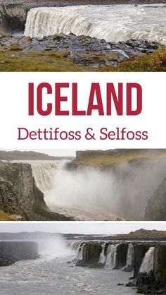 Iceland Travel guide - the powerful Dettifoss waterfall in North Iceland and its neighbor Selfoss - Photos  and planning info #Iceland | Iceland road trop | Iceland itinerary