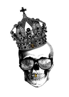 King skull Art Print by Julien Kaltnecker