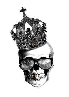King skull Art Print by Julien Kaltnecker