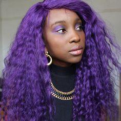 bibibellatrixx: Go big or go home Purple Dip Dye, Dyed Hair Purple, Violet Hair, Hair Color Purple, Hair Dye Colors, Cool Hair Color, African Hairstyles, Cool Hairstyles, Hair Inspo