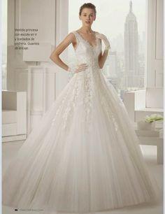 Vestido de Boda Princesa con escote en V 2015-1