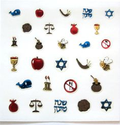 Rosh Hashanah Nail Decals.  Too funny not to purchase.