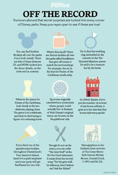 Things to do and try at Disney Parks