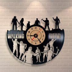 The Walking Dead Zombie  Figures Home Decorations Gift Rick Grimes Clock Action #VinylEvolution #ArtsCraftsMissionStyle