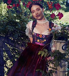 Klein Photographen represents established talent within the photography industry. Oktoberfest Outfit, Traditional Fashion, Traditional Dresses, Vogue Magazine Covers, Fashion Models, Fashion Outfits, Girl Trends, Dirndl Dress, German Fashion
