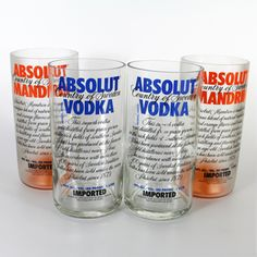 Glasses made from old vodka bottles?  What a great gift idea.  All of these products are so nifty.