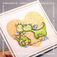 Dragon days#cardmaking #cards #watercolors #mftstamps #simonsayschallenge #mft #mftdienamics #msschallenge #
