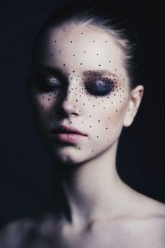 Sophisticated Polka Dots | editorial makeup #editorialmakeup