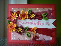 Handmade Red Paper Quilling Greeting Card by FromQuillingWithLove