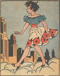 Excerpt from Mopsy - Mopsy, Vol. 1, No. 1 - Gladys Parker - Wikipedia Nose Drawing, Gibson Girl, Kewpie, Cartoon Drawings, Old Hollywood, Comic Strips, Pop Culture, Snow White, Disney Characters
