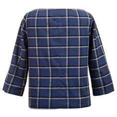 Μπλούζα Boxy σε Καρό Flannel