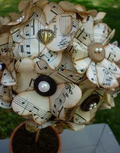 «Музыка нас связала», или 30 идей использования нотных листов в декоре - Ярмарка Мастеров - ручная работа, handmade
