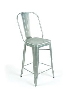 Abbott Bar Stool in Polished Aluminum (Set of 2)
