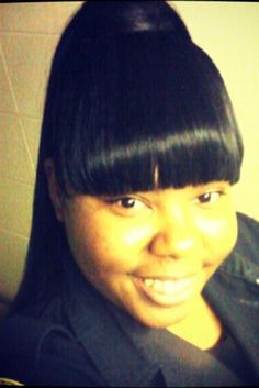 Weave long ponytail with bangs