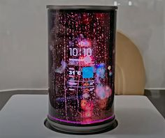 Flexible Oled, Led Party Lights, Flexible Display, Galaxy Note 7, Television Set, Cylinder Shape, Latest Gadgets, Cool Technology, Light Effect