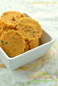 Crackers de lentilles corail & coriandre