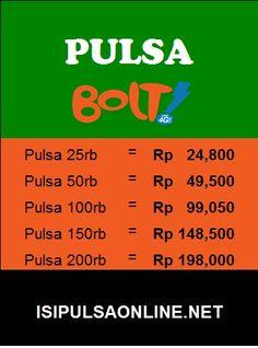 Pulsa Bolt murah hanya di isipulsaonline.net